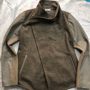 Vince Brown Leather Jacket/ Blazer XS
